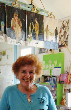 Pamela Howard in Her Workspace