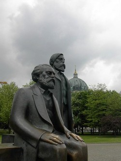 Marx-Engels Statues in Marx-Engels Forum, East Berlin
