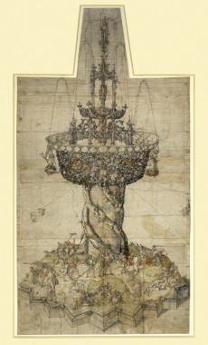Design for a Gothic Table Fountain