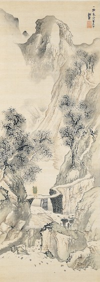Landscape with a Solitary Traveler