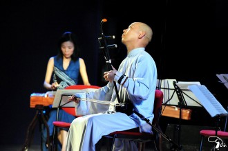 Guo Gan performing with Fiona Sze-Lorrain at UNESCO in Paris, France, June 2010