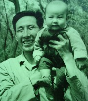 Guo Gan with his father, Guo Junming