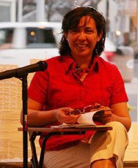 Mariela Griffor During a Poetry Reading